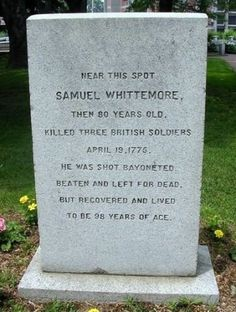 Samuel Whittmore: fought in the American Revolution at 80 years old