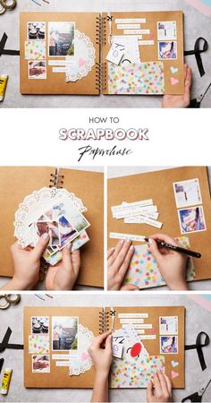 Not just for the sake of memories, these DIY heart touching scrapbook ideas is definitely the best idea to keep your passion alive. # DIY Gifts for bff 30 DIY Heart Touching Scrapbook Ideas Album Journal, Scrapbook Journal, Diy Scrapbook, Scrapbooking Layouts, Couple Scrapbook, Scrapbook Albums, Photo Album Scrapbooking, Junk Journal, Bullet Journal