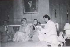Lady diana with jemima and imran khan during her visit to lahore