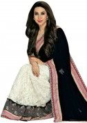 $163 A beautiful combiantion of white and black saree . Half saree in black velvet with stone work done on it . The remaining saree is in lace fabric in off white color. It has a lace at the border along with pink raw silk fabric pipeing. Itsblouse is in pink raw silk. 95% of our customers believe that the product is as shown on the website. More Detail Color-Black, White Fabric-Lace Shipping Time (Days)-3 Size-Free Work-Border This Product is-Ready to ship