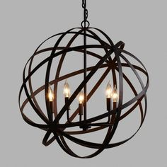 Large Metal Orb Chandelier from Cost Plus World Market. Shop more products from Cost Plus World Market on Wanelo. Orb Chandelier, Farmhouse Lighting, Foyer Decorating, Orb Light, Light Fixtures, Home Lighting, Affordable Pendant Lighting, Light, Metal Chandelier