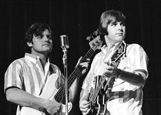 Striped Shirts Era: Bruce Johnston and Carl Wilson of The Beach Boys, I Love The Beach, The Beach Boys, Bruce Johnston, Carl Wilson, 3 Brothers, Documentaries, Concert, Fictional Characters, Musicians