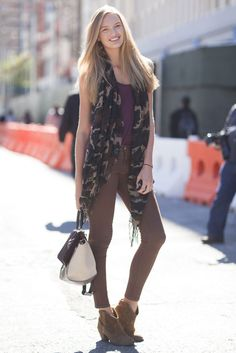 This Is It — A Look Back at the Year's Best Street Style : A touch of camo went a long way on this laid-back styler's look. As for the rest, she kept it cool and neutral, with just a splash of color.  Source: Adam Katz Sinding