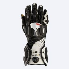 Black and White Handroid Motorcycle Gloves