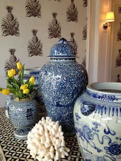 blue and white porcelain jars.. I'll never tire