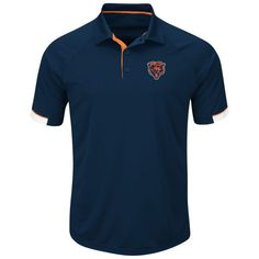 Chicago Bears Majestic Big & Tall Second Wind Polo - Navy - $64.99
