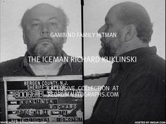 """Richard """" The Iceman"""" Kuklinski was one of the most diabolical self-confessed contract killers in American history, who took credit for over 200 murders, including the murder of Jimmy Hoffa. A book called """"The Iceman"""" is about his life. Real Gangster, Mafia Gangster, Criminal Justice Major, The Iceman, National Geographic Channel, Mickey Rourke, Life Of Crime, The Godfather, Criminal Minds"""