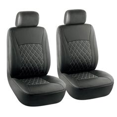 Free Shipping. Buy KM WORLD Elegant Premium Leather Car Front Bucket Seat Covers Solid Black & Black tone Cross Stitched - KMSC-BK/BK-001 Low Back ( 6 PC Set ) at Walmart.com