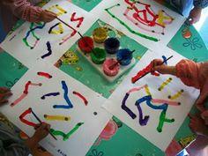 LA BRUIXA PERICUIXA.-Educació infantil-.: GRAFISME 4 ANYS.UNIR PUNTS EN RECTES