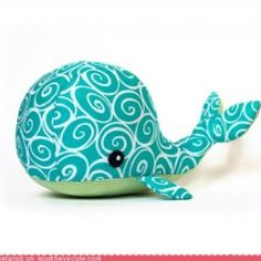 DIY whale stuffed animal