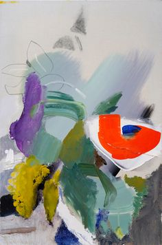 Visit us to license this and other works by Ivon Hitchens. © The Estate of Ivon Hitchens. All rights reserved. DACS/Artimage Photo: Jonathan Clark & Co Abstract Flowers, Abstract Art, Abstract Paintings, Art Paintings, Abstract Expressionism, Flower Vases, Flower Art, Paintings I Love, Flower Paintings