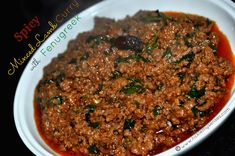 Minced Lamb pressure cooked with Whole Spices and Fenugreek leaves to a juicy soft tenderness. Enjoy with rice, parathas or rolled in chappatis. To Make Spicy Lamb Mince Curry with Fenugreek leaves using a Pressure Cooker. Lamb Mince Recipes, Meat Recipes, Indian Food Recipes, Vegetarian Recipes, Savoury Recipes, Chicken Recipes, Healthy Recipes, Mince Dishes, Veg Dishes