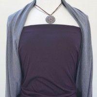Aubergine viscose jersey fabric