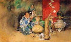 江戸時代 歴史 絵画 七宝職人 by Robert Frederick Blum