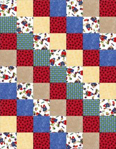 This cute ready to sew beginner pre-cut quilt kit has enough precut squares that feature Paddington Bear dressed up in winter coats and hats and many gifts of different color, shapes and styles. A bei