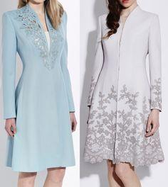 Catherine Walker (bespoke) combination of the Rosa Coatdress and the Melrose Coatdress.