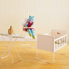 Kids' Imaginary Play: Doll High Chair & Crib in All Toys Doll High Chair, Baby Doll Set, All Toys, Big Girl Rooms, Baby Store, Baby Cribs, Play Houses, Crate And Barrel, Kids Furniture