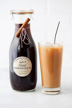 Homemade Chai Concentrate Recipe {sweetened and unsweetened} Chai Concentrate Recipe, Homemade Chai Tea, Chai Tea Recipe, Chai Syrup Recipe, The Chai, Black Tea Bags, Tea Recipes, Juice Recipes, Cleanse Recipes