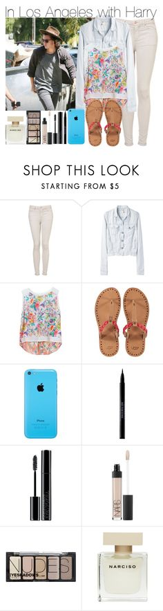 """""""In Los Angeles with Harry"""" by elise-22 ❤ liked on Polyvore featuring Topshop, rag & bone/JEAN, Zara, UGG Australia, Urban Decay, Giorgio Armani, NARS Cosmetics, H&M and Narciso Rodriguez"""