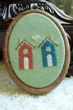 Next Door Neighbors. House Cross Stitch PDF Pattern