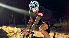 Rapha pro team jersey..and tattoos!