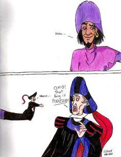 Bothering Frollo by KK-Ska on deviantART