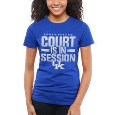 Kentucky Wildcats Women's Court Session T-Shirt - Royal Blue