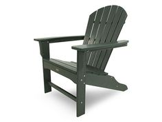 Strong and durable, the Polywood Seashell Recycled Plastic Adirondack Chair is also comfortable and easy to maintain with only soap and water. Recycled Plastic Adirondack Chairs, Outdoor Chairs, Outdoor Furniture, Outdoor Decor, Adirondack Furniture, Outdoor Rooms, Wood Furniture, Furniture Makeover, Gray