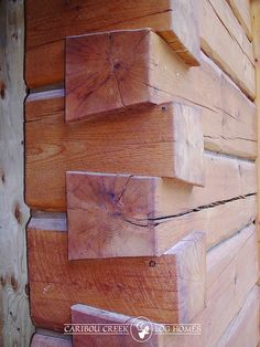 Handcrafted Dovetail Joinery Details | by Caribou Creek Log Homes by CaribouCreekLogHomes.com, via Flickr