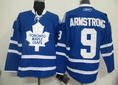 $32.00 NHL Jerseys Toronto Maple Leafs Colby Armstrong #9 Blue