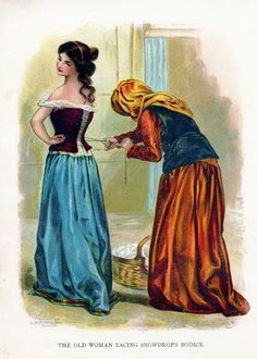 In the original recording of the story by the Brothers Grimm, the evil queen's second attempt to kill Snow White involves a poisoned comb with which the queen plunges into Snow White's scalp so hard that it poisons her, knocking her unconscious once again.  The dwarfs find her just in time and remove the comb, which allows Snow White to wake up.