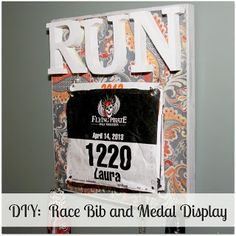 DIY Race Bib and Medal Display |