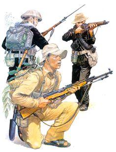 • Viet Cong Main Force soldier, 1964  • Viet Cong Main Force soldier, 1967  • Viet Cong irregular, 1962  Mike Chappell