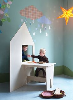 Let your child's imagination run wild with this beautiful playhouse by Inke. Can be used as a puppet theater, restaurant or shop, the list is endless.The playhouse is made from untreated wood which can be customised to suit to your room. Colour the house with chalkboard paint, wallpaper or paint to make it truly original. #thecollection #inke