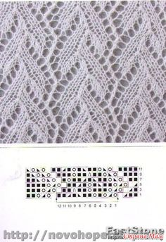 Billedresultat for shetland lace stitches Lace Knitting Stitches, Crochet Stitches Patterns, Lace Patterns, Knitting Patterns Free, Stitch Patterns, Wrist Warmers, Beads And Wire, Garter Stitch, Beaded Flowers