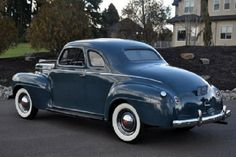 1940 Plymouth Coupe, Blue.