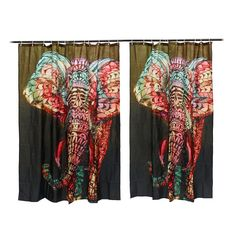 Hot Elephant Printing Shower Curtain Waterproof Mildewproof Polyester Fabric Bath Curtains Bathroom Product With 12 Hooks Gift - ICON2 Luxury Designer Fixures  Hot #Elephant #Printing #Shower #Curtain #Waterproof #Mildewproof #Polyester #Fabric #Bath #Curtains #Bathroom #Product #With #12 #Hooks #Gift