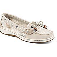 Angelfish Cotton Mesh Slip-On Boat Shoe, Ivory