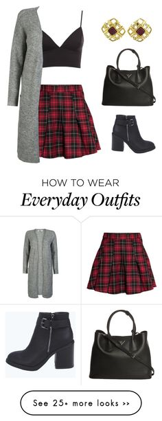 """""""Outfit #6    kalenahawaii"""" by kalenahawaii on Polyvore featuring H&M, Boohoo, Prada and Chanel"""