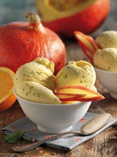 Außergewöhnliche Eiskreation aus Kürbis, Apfel und einem Hauch Orange – so schmeckt Eis auch im Herbst toll!