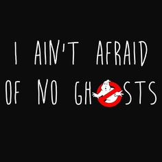 No Ghosts // #ghostbusters #text #digitalart #redbubble
