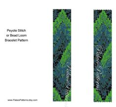 Bead Loom and Peyote Stitch Bracelet Pattern  by PalacePatterns