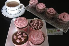 @Ivy's Garden  Food Makes Crave #glutenfree Pink Velvet Cupcakes from our cookbook!