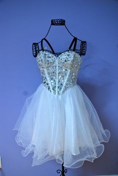 White Sparkly Prom Dress