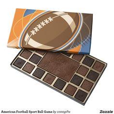 American Football Sport Ball Game 45 Piece Box Of Chocolates