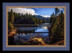 Bridge Framed Print featuring the photograph Wagon Creek Bridge by Marnie Patchett