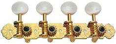 Golden Gate M-127  A-Style Mandolin Tuners - Fixed Buttons by Golden Gate. $17.61. M-127 Golden Gate A-style Mandolin Tuners-Fixed Buttons:Affordable, quality tuning machines that are well-designed and built to last. Embossed, gold-plated plates and white plastic buttons. These machines turn smoothly and hold securely.. Save 32% Off!
