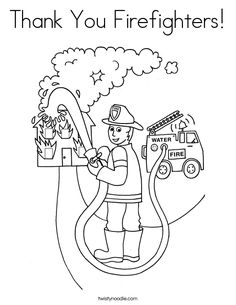 fire fighter coloring in page professions theme pinterest