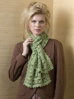 sport weight crocheted scarf