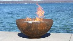 Big Bowl O' Zen recycled steel firebowl made by hand in USA